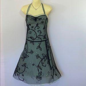 BCBG Maxazria Silk Beaded Slip Dress EUC 4